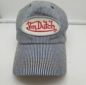 Von Dutch Striped Trucker Baseball Cap
